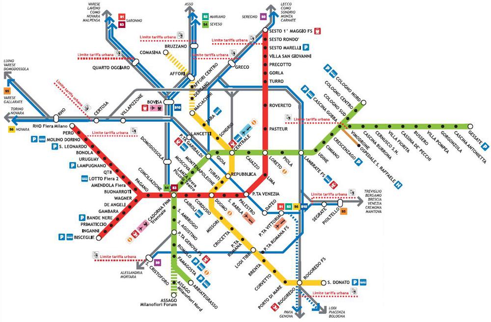 Metropolitana milano abitudini urbane essere a casa in for Creatore della mappa della casa